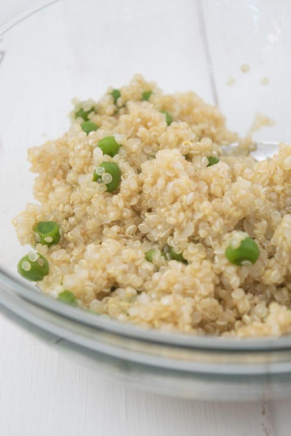 boiled quinoa for spiced quinoa patties