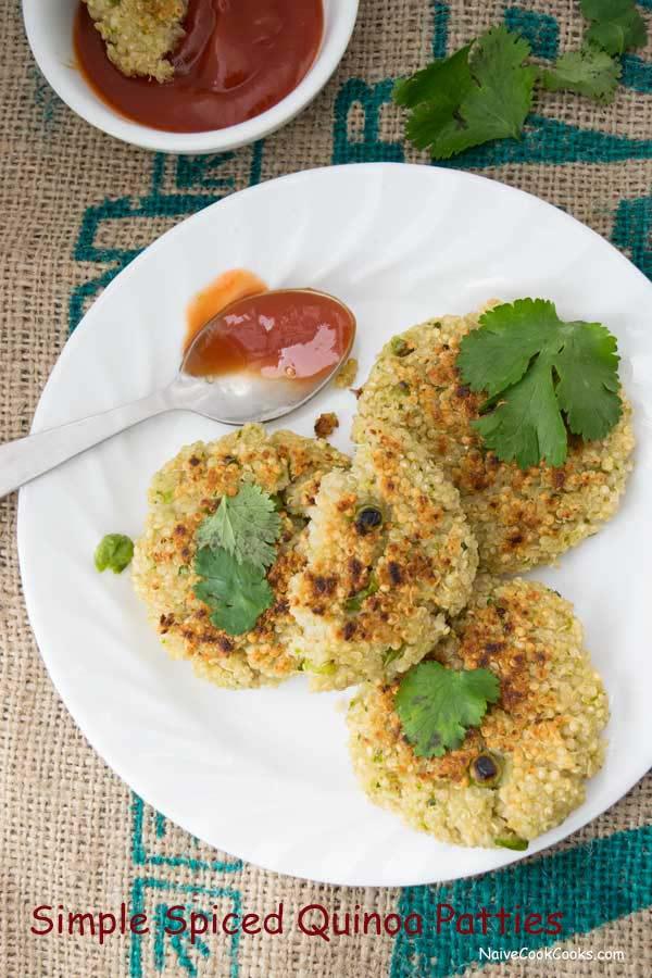 ready to eat spiced quinoa patties 1