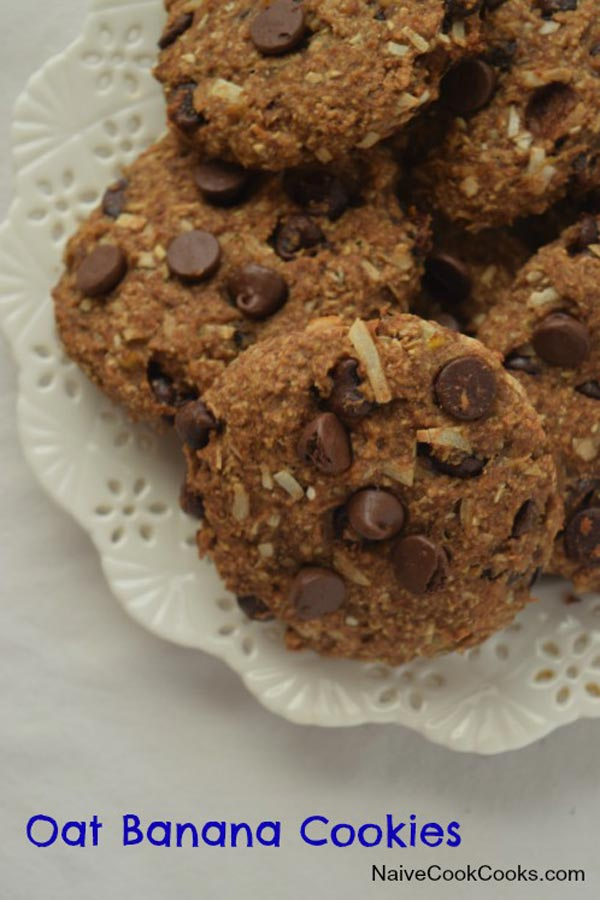 Chocolate Chip Oat Banana Cookies