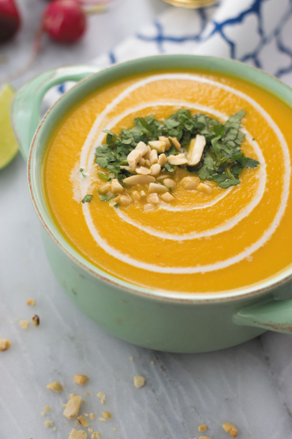 Thai Squash Soup - a delicious comfort soup made in slow cooker, made with just 8 ingredients.