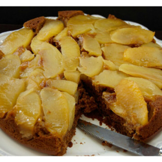 Upside Down Apple Molasses Cake