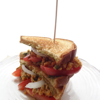 Indian Chutney Paneer Sandwich