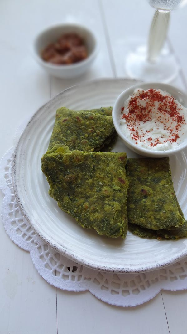 fenugreek spinach flatbread