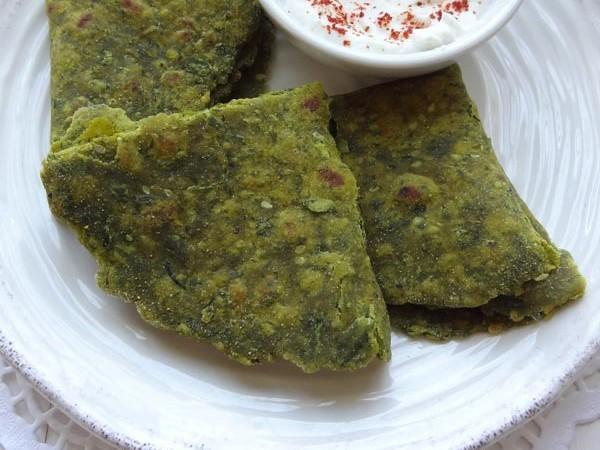 fenugreek spinach flatbread