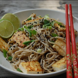 Spicy Soba Noodles With Crispy Tofu