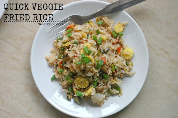 Easy Quick Veggie Fried Rice