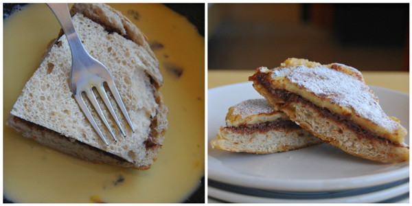 Steps to make Nutella Stuffed French Toast