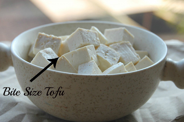 Bite Size Tofu for Vegetarian Pad Thai