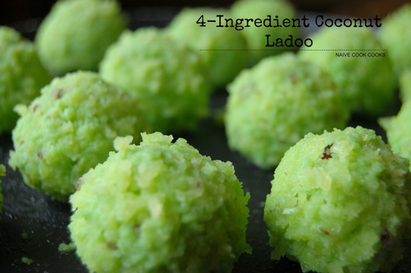 4 Ingredient Fresh Coconut Ladoo