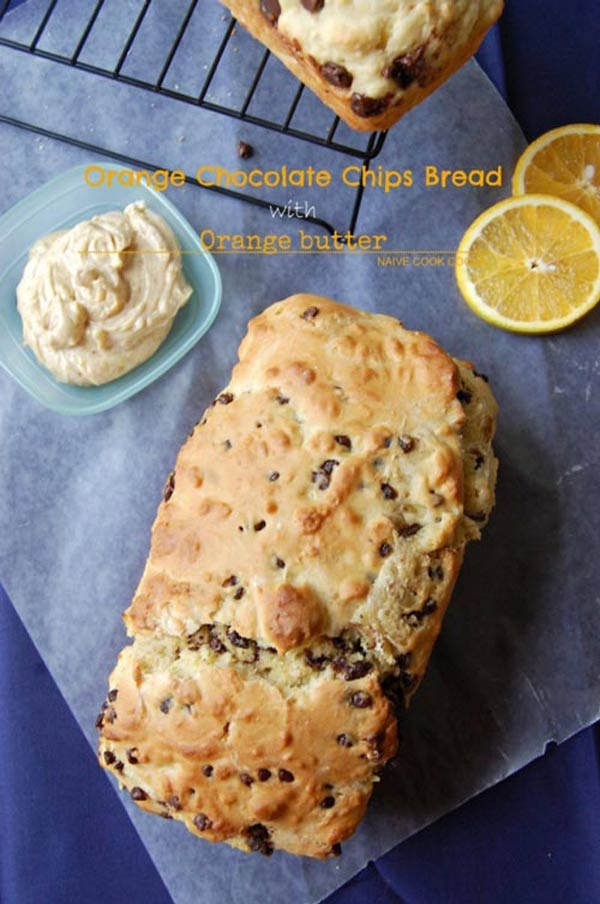 orange chocolate chips bread