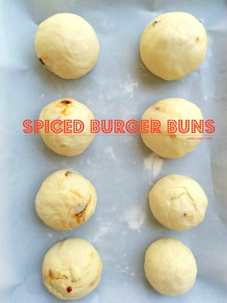 Spiced Homemade Burger Buns