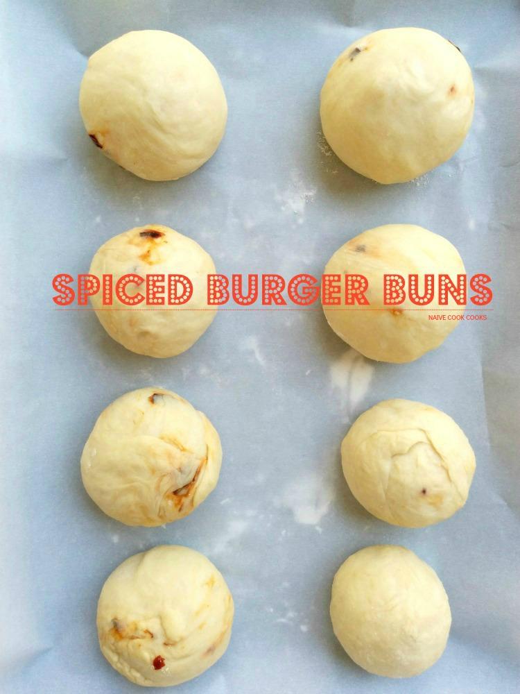 Spiced Homemade Burger Buns