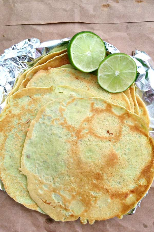 Crepes for No Cheese Poblano Crepe Enchiladas