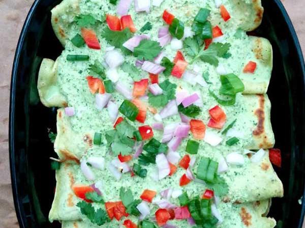 Poblano Crepe Enchiladas