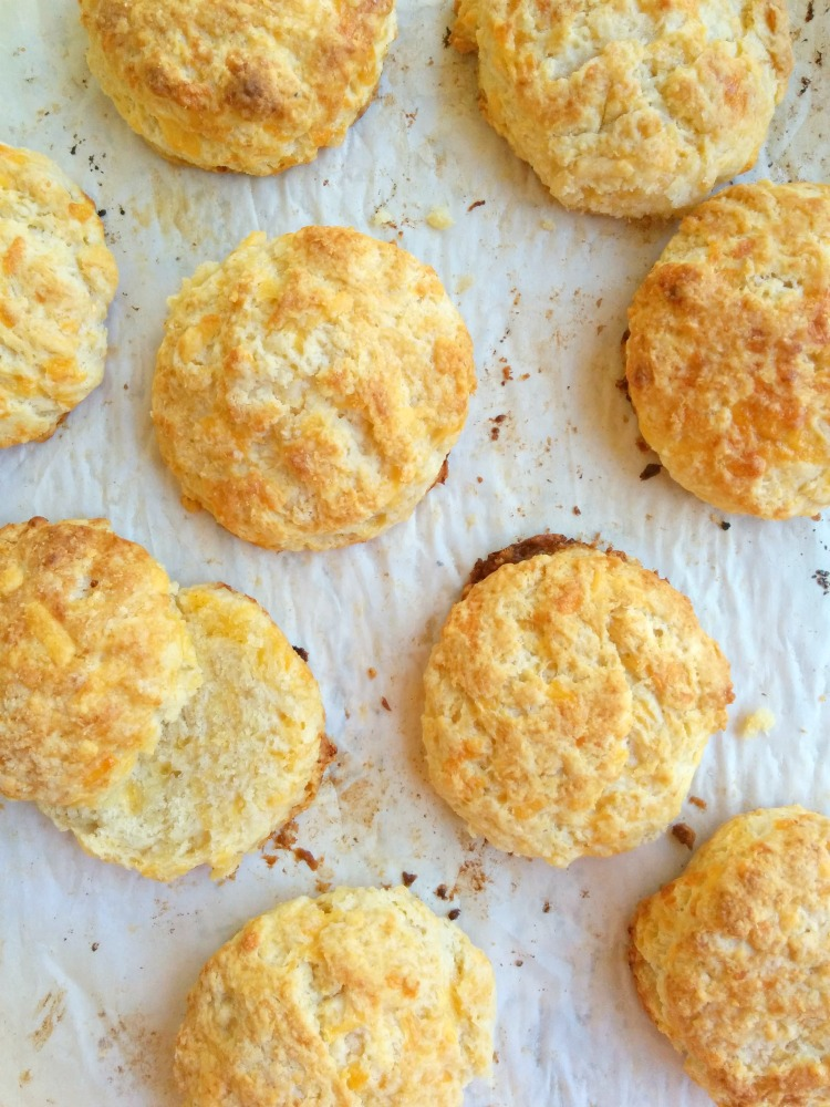 Cheddar Biscuits Baked