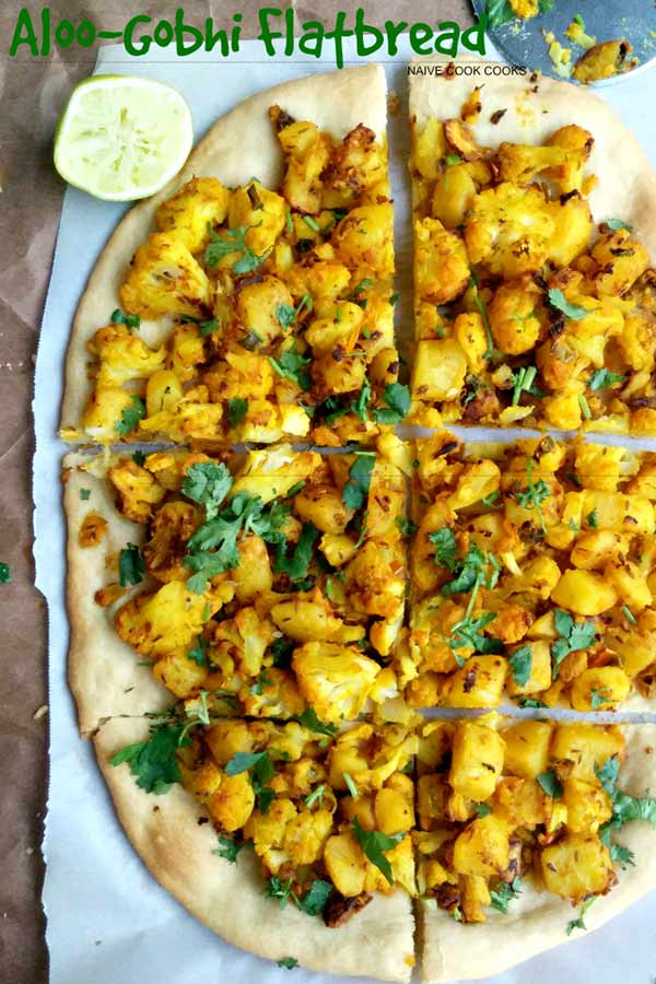 Aloo Gobhi Flatbread - Potato Cauliflower Flatbread