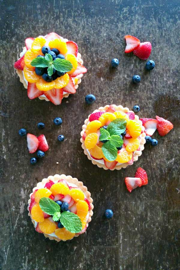 Cheesecake Pudding Fruit Tart Ready