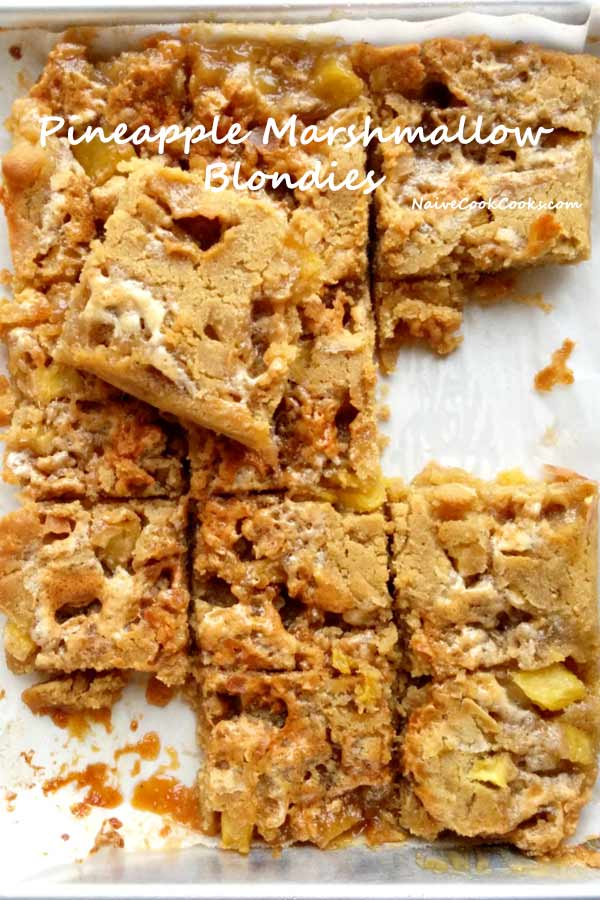 Pineapple Marshmallow Blondies Bar