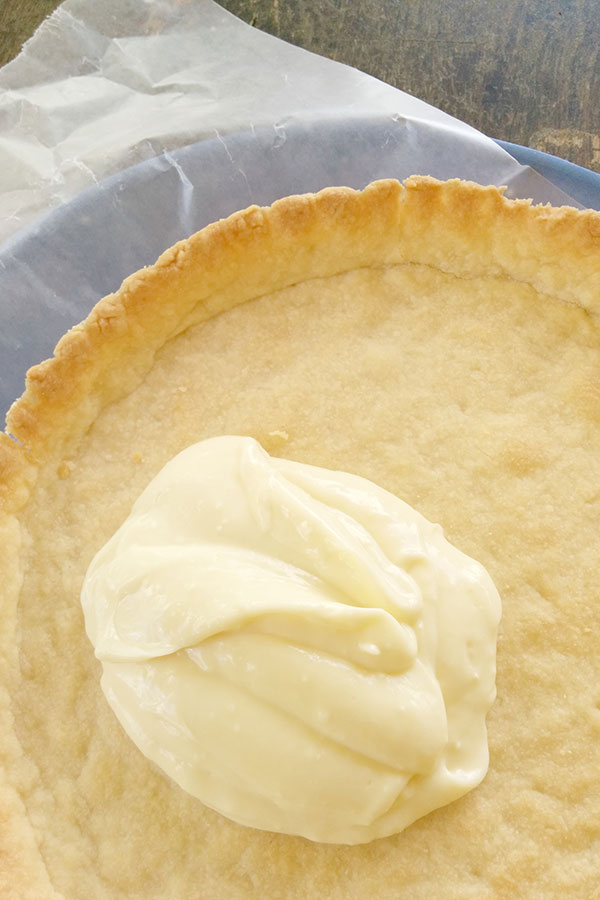 Tart Crust with Cheesecake Pudding as Base