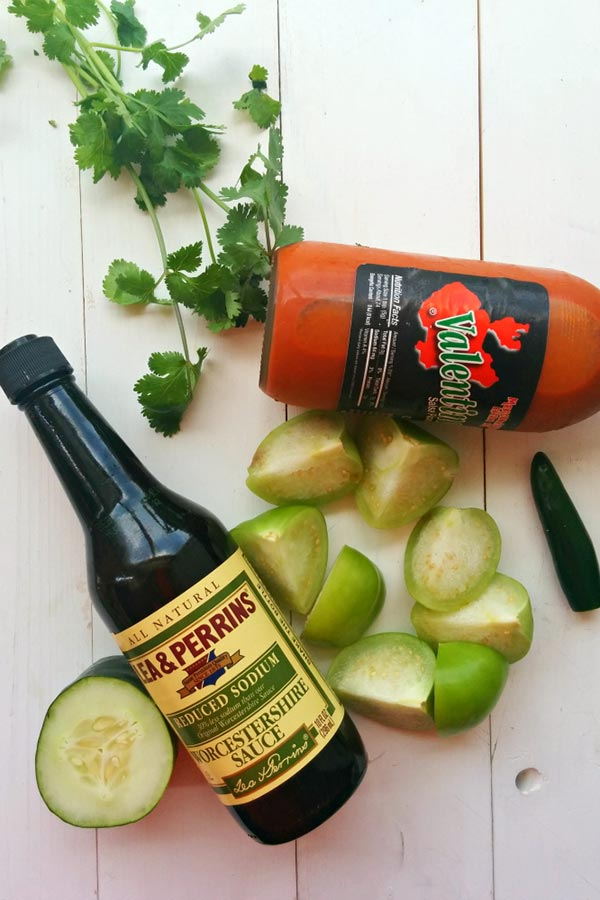 Hot Sauce and Worcestershire Sauce for Green Bloody Mary Verde