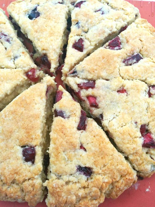 Sliced Baked Cherry Scone.