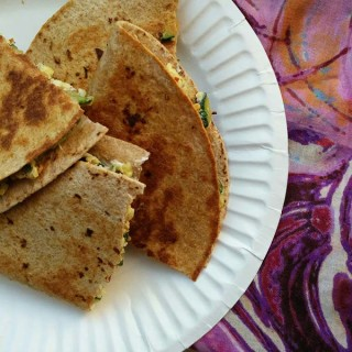 Zucchini and Goat Cheese Breakfast Quesadilla