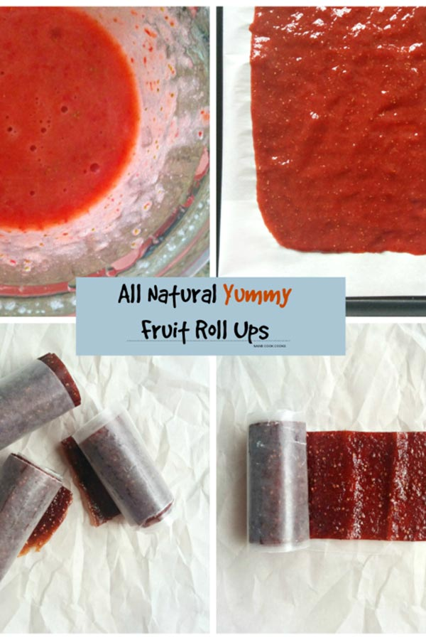 Homemade Strawberry Fruit Roll Ups