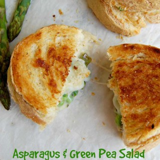 Asparagus Green Pea Salad Grilled Cheese