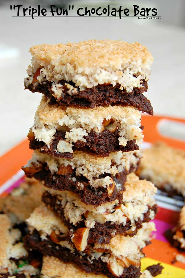 Triple Fun Coconut Chocolate Bars