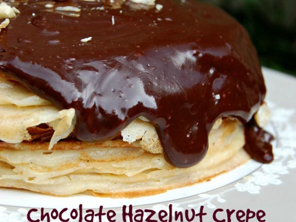 Chocolate Hazelnut Crepe Cake