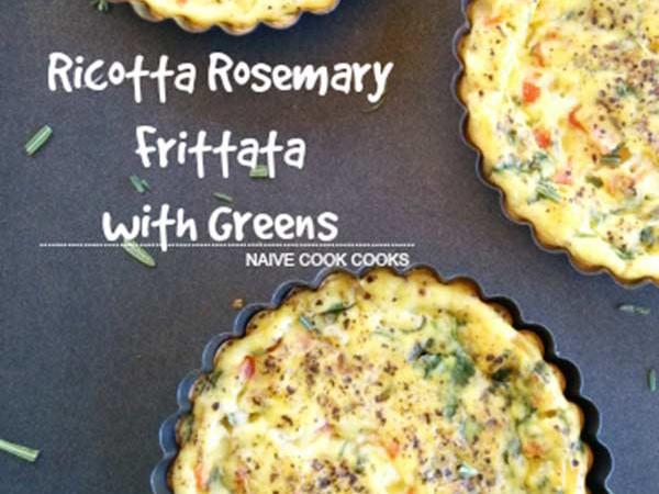 Ricotta Rosemary Frittata with Greens