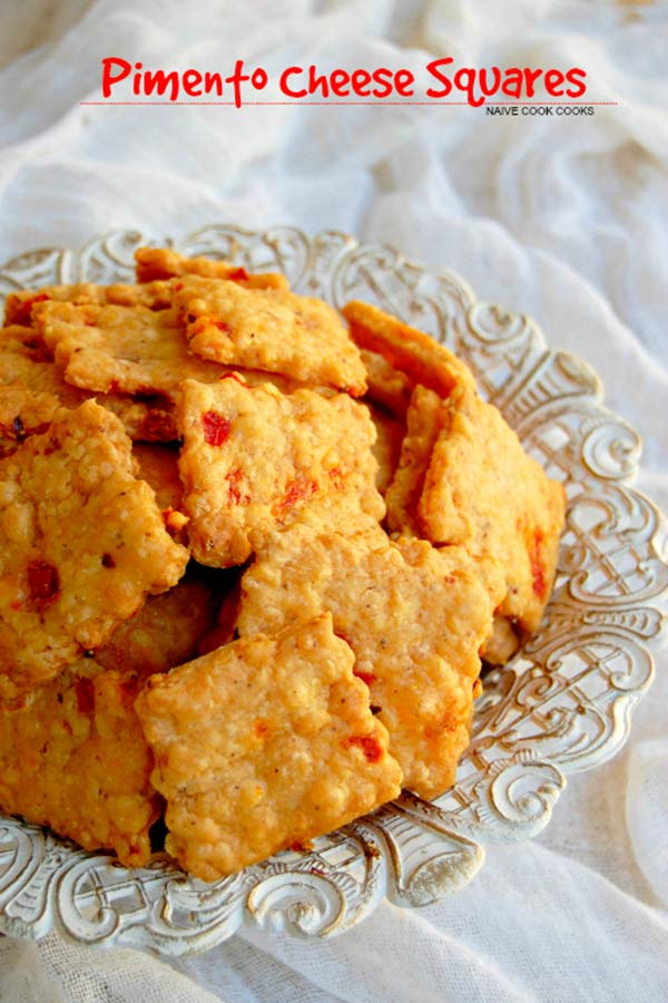 Piment -Cheese Squares