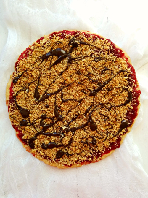 cranberry crisp Dessert pizza