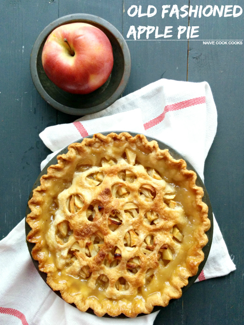 Classic old fashioned apple pie bursting with cinnamon flavored apples ...