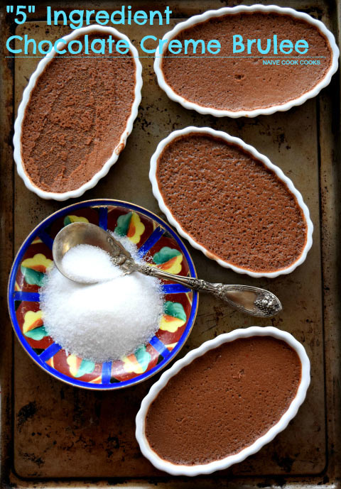 5 Ingredient Chocolate Creme Brulee 1