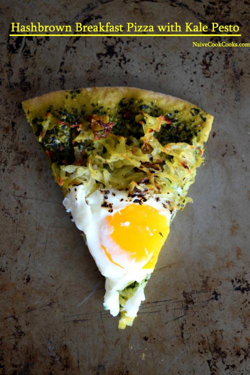 Hashbrown Breakfast Pizza with Kale Pesto