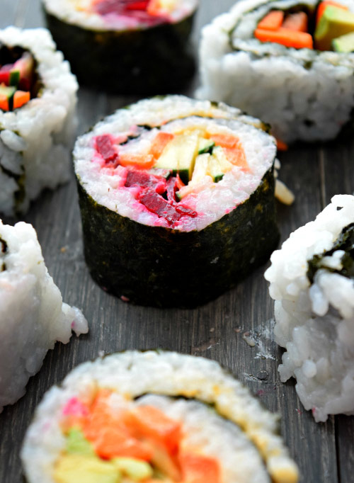 How to Make Spicy Mayo Vegetable Sushi Step 7 Done