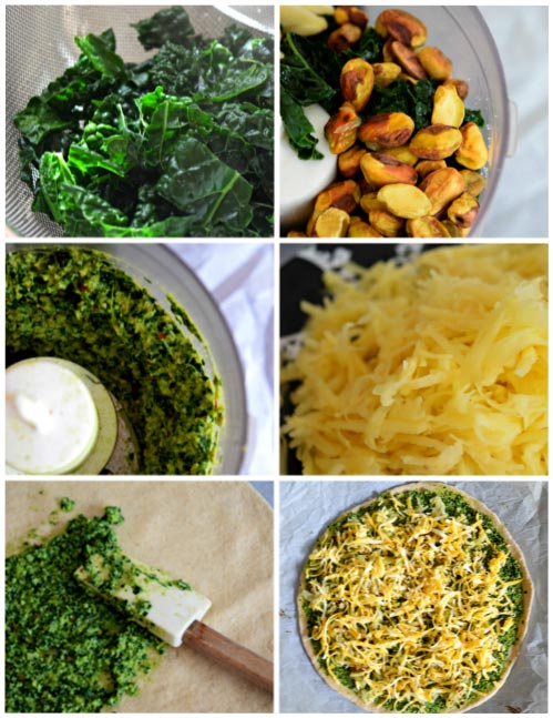 Ingredients for Hashbrown Breakfast Pizza with Kale Pesto