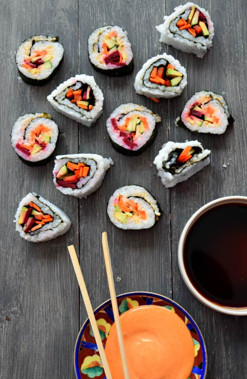 Spicy Mayo Vegetable Sushi Ready to Eat