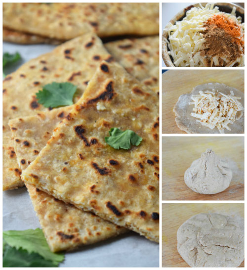 Assembly of Paneer Parantha (Indian Cheese Stuffed Flatbread)