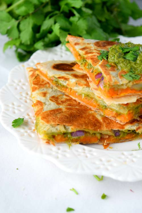 Roasted Sweet Potato Quesadilla