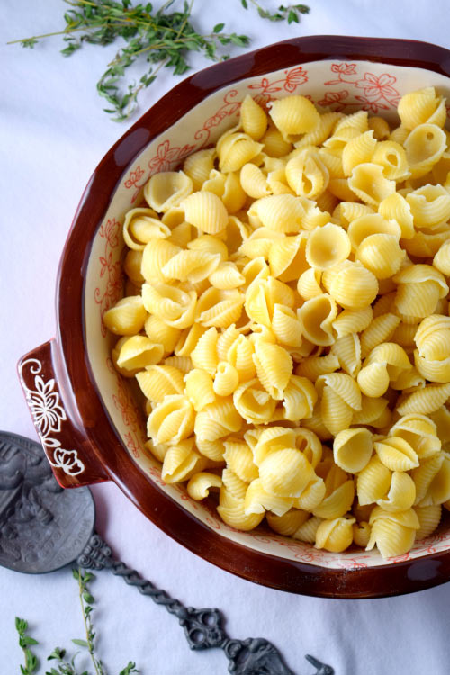 how to cook macaroni shells