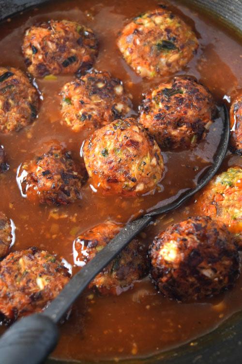 Vegetable Balls in Manchurian Sauce