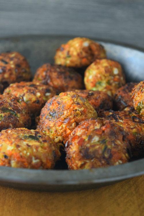 Vegetable Balls just Fried
