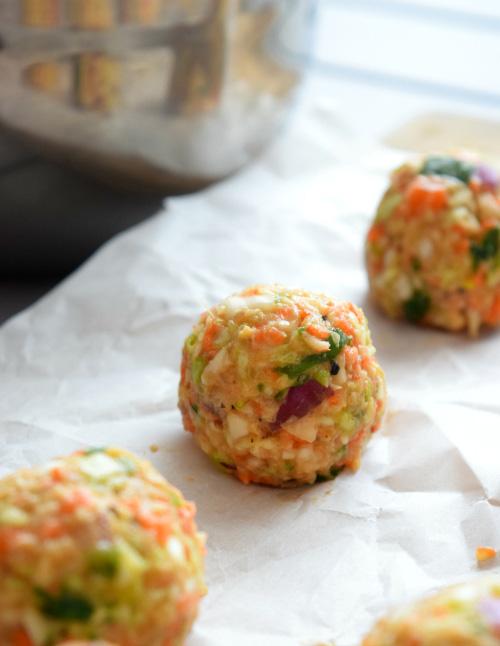 Veggie Manchurian Balls Before Frying