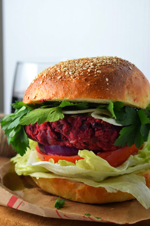 Yummy Smashed Beet Bean Burger