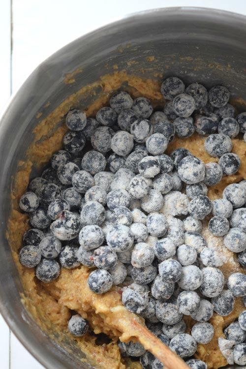 Batter Mix of Skinny Whole Wheat Blueberry Muffins