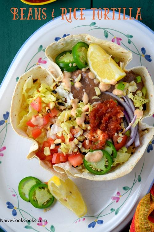 Beans & Rice Tortilla Bowls