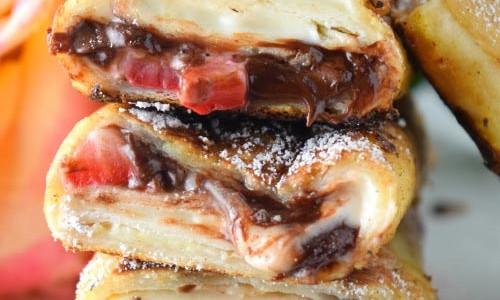 Chocolate Strawberry Cheesecake Tortilla French Toast
