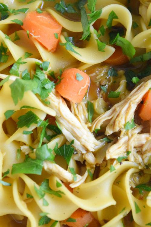 Delicious Turmeric Chicken Noodle Soup